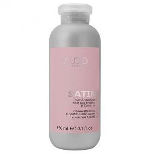 Kapous сатин-шампунь с протеинами шелка и маслом хлопка серии luxe care линии studio 350 мл