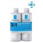 La roche posay набор 2 по цене 1 - мицеллярная вода ultra для чувствительной кожи, 2 шт, 400мл