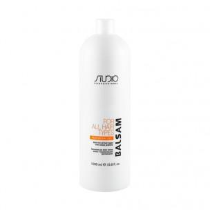 Kapous бальзам для всех типов волос с пшеничными протеинами studio 1000 мл