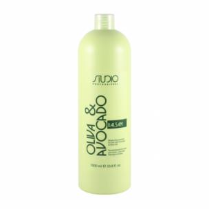 Kapous бальзам увлажняющий с маслом авокадо и оливы studio 1000 мл