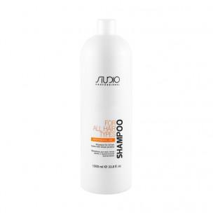 Kapous  шампунь для всех типов волос с пшеничными протеинами studio 1000 мл