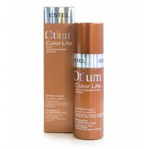 Несмываемый спрей-уход для волос 'яркость цвета' estel otium color life 100 мл