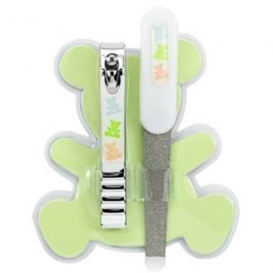 Qvs набор маникюрный детский: кусачки и пилочка для ногтей металлические