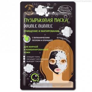 Etude organix пузырьковая маска double bubble с вулканическим пеплом etude organix  25 г