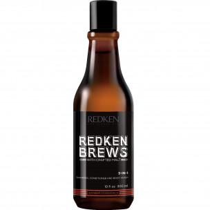 Redken брюс 3-в-1 шампунь, кондиционер и гель для душа 300 мл